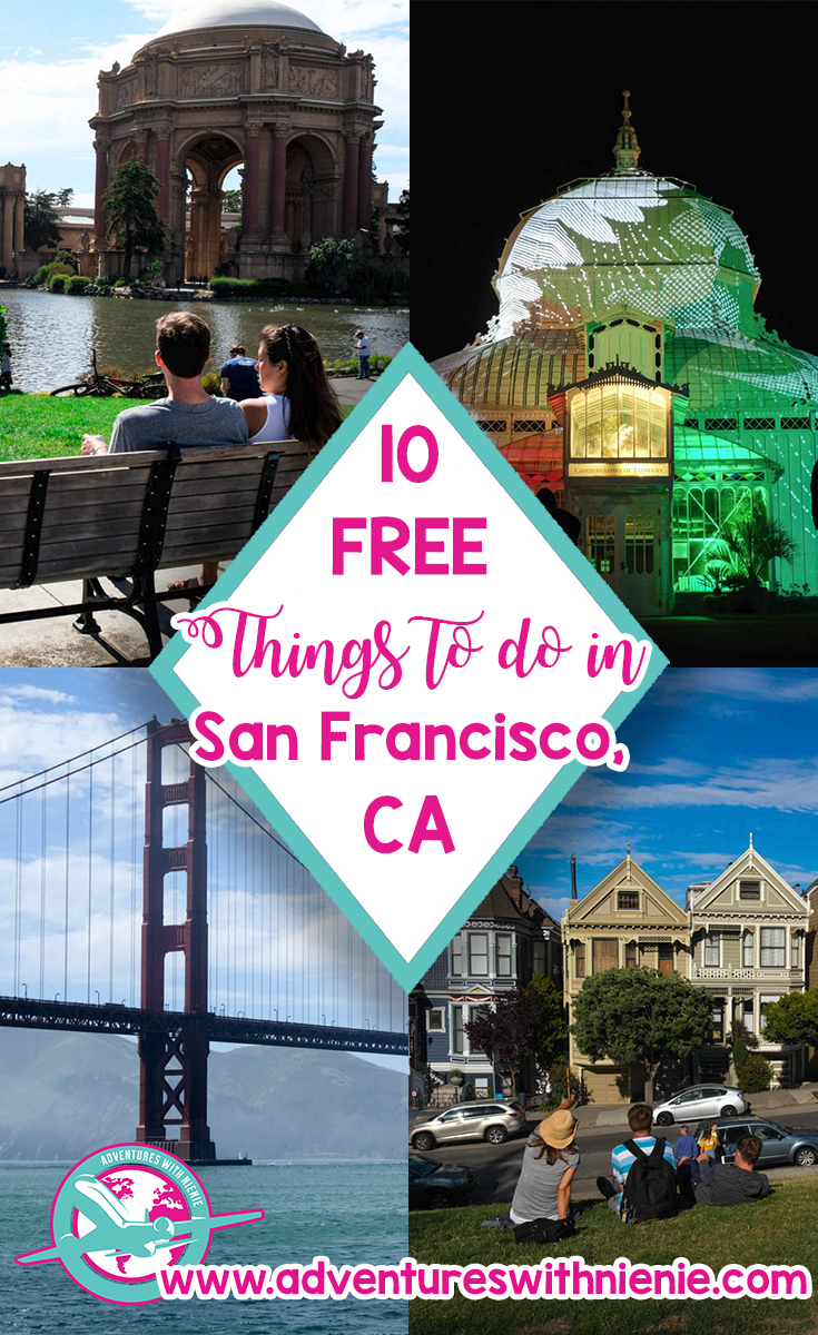 Free Things to do in San Francisco Pinterest Cover